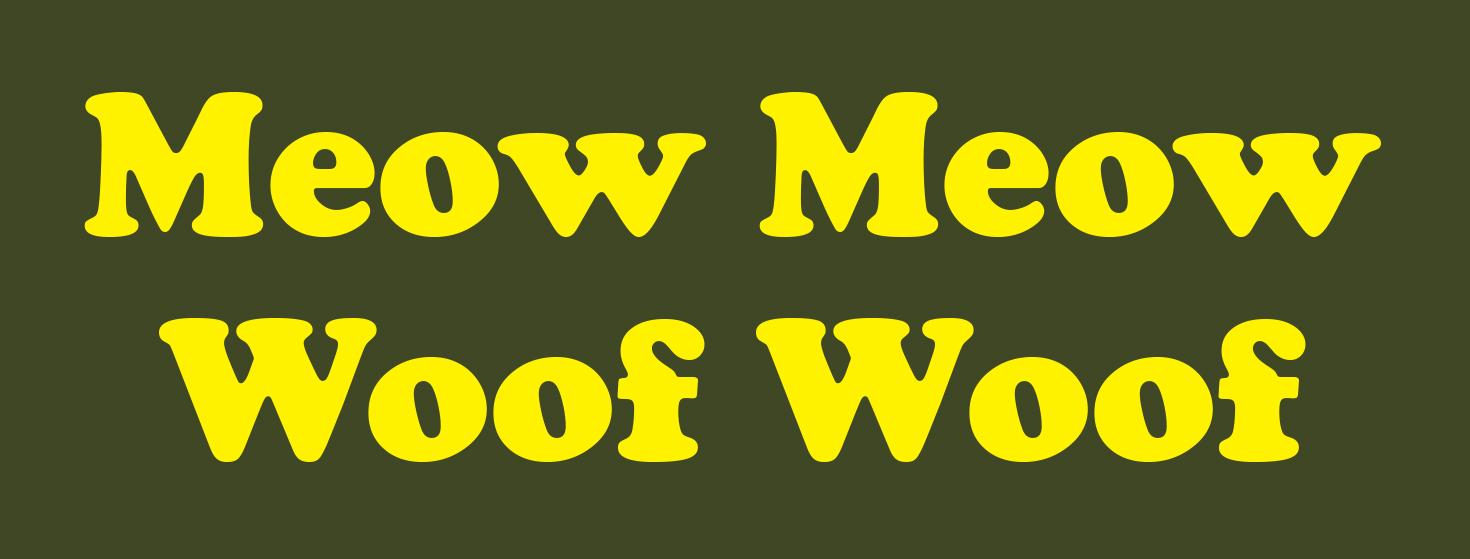 Meow Woof Image WEB NEWS